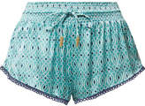 Paloma Blue - Paloma Printed Silk-satin Shorts - Sky blue