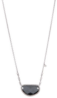 Meira T 14K White Gold Hematite & Pave Diamond Necklace