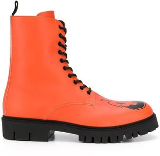 Moschino Pumpkin Faces Print Boots