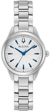 Bulova Women's Sutton Stainless Steel Bracelet Watch 28mm