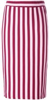 House of Holland striped fitted skirt