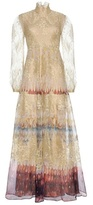 Valentino Printed silk and lace gown