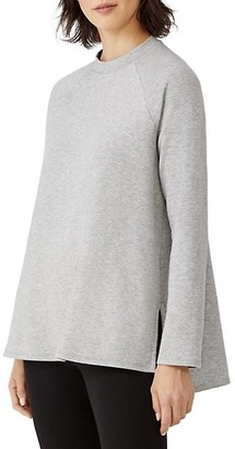 Eileen Fisher Crewneck Raglan-Sleeve Tunic