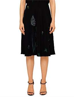 Paul Smith Womens Dress With Applique Flowers Black