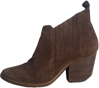 Matisse By Kate Bosworth Camel Leather Ankle boots