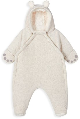 Petit Bateau Baby's Ears Velour Coverall