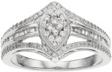 10k White Gold 1/2 Carat T.W. Diamond Marquise Ring
