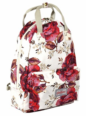 Cath Kidston Backpack Rucksack Jacquard Rose in Warm Cream Oilcloth