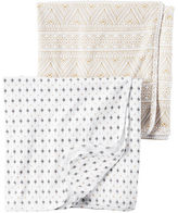 Carter's 2-Pack Little Traveler Swaddle Blanket Set