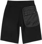 Givenchy Black Wide-leg Cotton Shorts