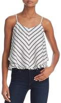 Joie Kenyon Striped Overlay Silk Cami