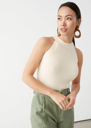 And other stories Fitted Halter Knit Top