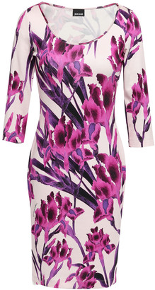 Just Cavalli Floral-print Stretch-jersey Mini Dress