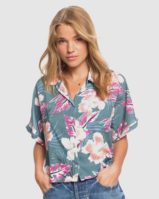Roxy Womens Possibly Maybe Printed Boxy Party Shirt