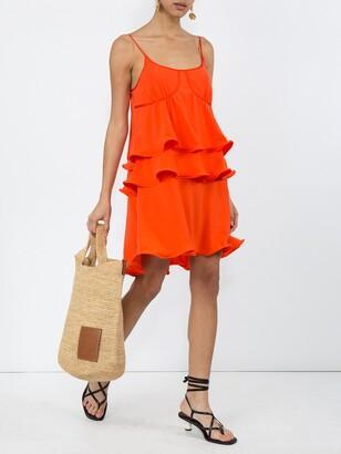Sies Marjan ruffle detail dress orange
