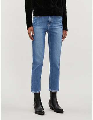 Paige Sarah cropped straight high-rise jeans