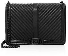 Rebecca Minkoff Women's Jumbo Love Chevron Quilted Leather Crossbody Bag