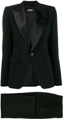 DSQUARED2 satin lapel evening suit