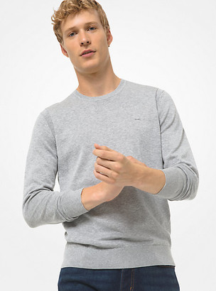 Michael Kors Cotton Crewneck Sweater - Alloy Melange