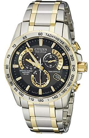 Citizen Men's AT4004-52E Perpetual Chrono A-T Two-Tone Eco Drive Analog Quartz Stainless Steel Watch