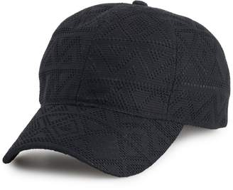 Tek Gear Women's Tonal Chevron Baseball Cap with Ponytail Hole