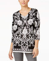 JM Collection Printed Chain-Link Tunic, Created for Macy's