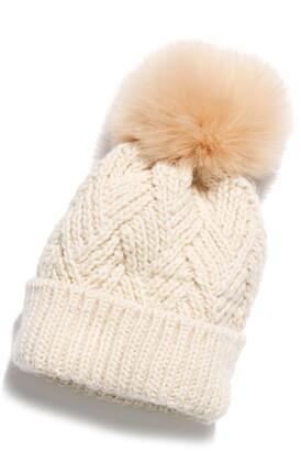 Free People Pinnacle Pompom Wool Blend Beanie