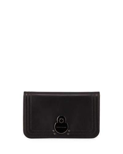 Longchamp Cavalcade Leather Wallet on a Chain