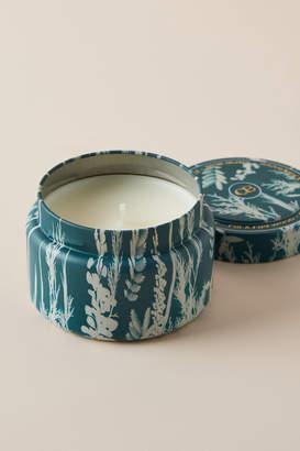 Capri Blue Fir & Firewood Tin Candle
