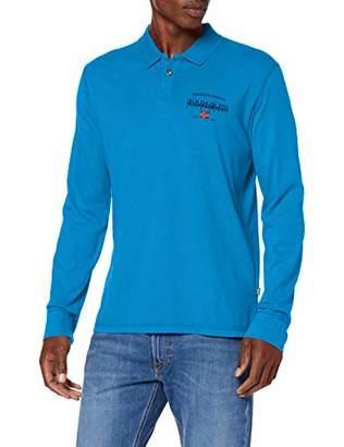 Napapijri Men's EILS Polo Shirt, (Bright White 002), L