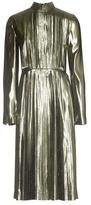 Loewe Metallic Silk-blend Pleated Dress