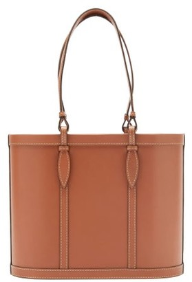 Hunting Season Basket Leather Tote Bag - Tan
