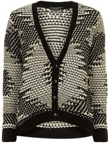Dorothy Perkins Black/white geo knit cardigan
