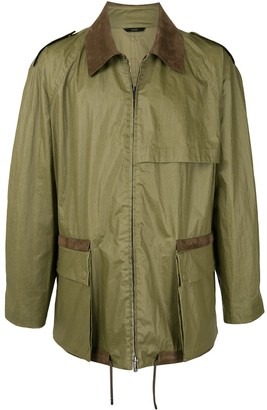 Fendi Zip-Up Collared Jacket