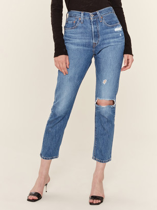 Levi's 501 Distressed High Rise Skinny Jeans