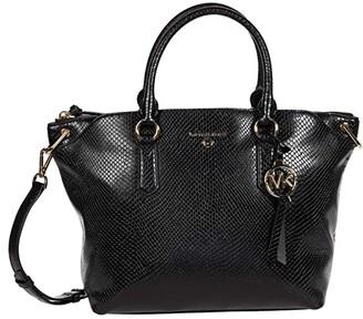 MICHAEL Michael Kors Elson Large Convertible Satchel (Black) Handbags