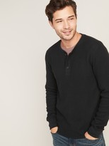 Old Navy Chunky Thermal-Knit Built-In Flex Henley for Men