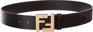 Fendi Monogram Buckle Leather Belt