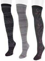Muk Luks 3-pk. Microfiber Over The Knee Socks