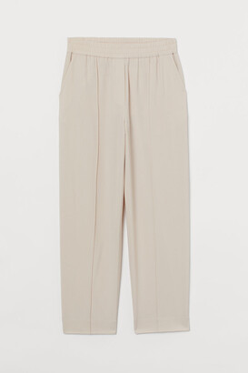 H&M Tapered Wool-blend Dress Pants - White