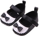 Happy Cherry Baby Girls Prewalker Polka Dot Bowknot Princess Flat Shoes