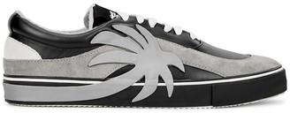 Palm Angels Black Appliqued Vulcanised Sneakers
