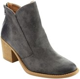 Qupid FC38 Women's Distressed Mid High Block Heel Ankle Booties Half Size Small, Color:, Size:6