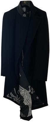 Roberto Cavalli Black Wool Coats