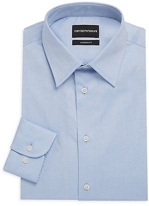Emporio Armani Modern-Fit Solid Dress Shirt