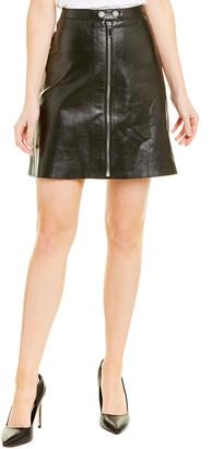 Max Mara Leather Pencil Skirt