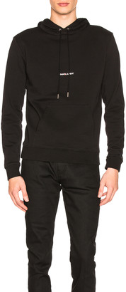 Saint Laurent Classic Hoodie in Black | FWRD