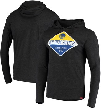 Men's Black Golden State Warriors Tri-Blend Pullover Hoodie