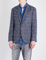 Brunello Cucinelli Micro-checked alpaca jacket