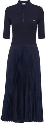 Prada Contrast Detail Knit Dress